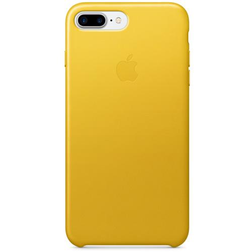 Кожаный чехол Apple Leather Case для iPhone 7 Plus (Sunflower) ярко-жёлтый