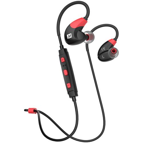 Беспроводные спортивные наушники MEE Audio X7 (bluetooth EP-X7-RDBK-MEE) красныеВнутриканальные наушники<br>MEE Audio X7 — функциональные и комфортные беспроводные наушники, созданные специально для занятий спортом.<br><br>Цвет товара: Красный<br>Материал: Пластик, силикон