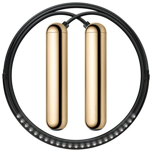 Умная скакалка Smart Rope золотистая (размер M)Аксессуары для тренировок и фитнеса<br>Умная скакалка Smart Rope - это инновационное устройство, позволяющее вам по новому взглянуть на ваши тренировки прыжков.<br><br>Цвет товара: Золотой<br>Материал: Металл, пластик