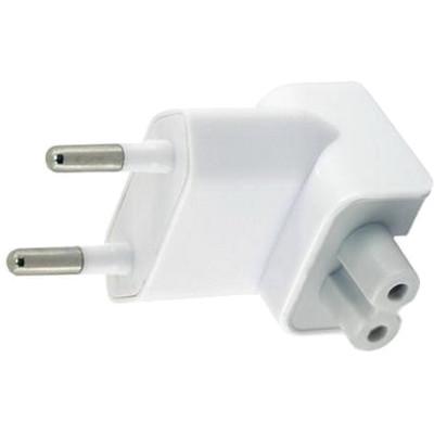 Переходник (насадка, вилка) «Евро» для блоков питания Apple MacBook, iPad, iPhoneЗарядки для ноутбуков<br>Этот оригинальный переходник поможет Вам заряжать технику Apple от привычной для нас «Евро» розетки.<br><br>Цвет товара: Белый<br>Материал: Пластик