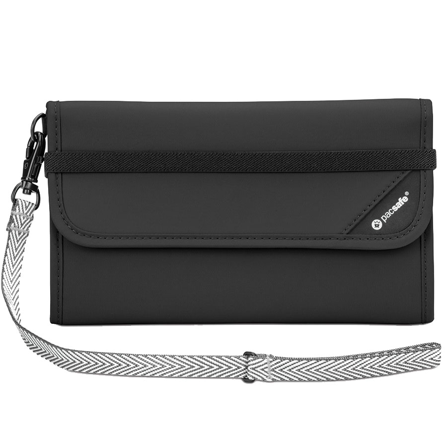 Кошелёк PacSafe RFIDsafe V250 чёрныйКошельки и портмоне<br>PacSafe RFIDsafe V250 - лучшая защита для всех ваших ценностей!<br><br>Цвет: Чёрный<br>Материал: Текстиль, ткань RFIDsafe