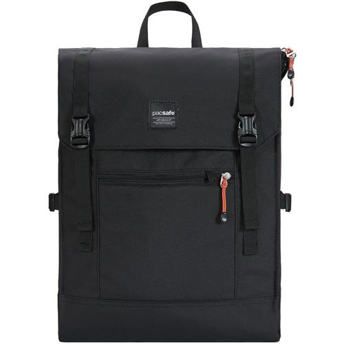 Рюкзак PacSafe Slingsafe LX450 чёрныйРюкзаки<br>Удобный и надёжный рюкзак Pacsafe Slingsafe LX450 отлично подходит для городских прогулок, и легко вместит самое необходимое!<br><br>Цвет товара: Чёрный<br>Материал: Текстиль, нержавеющая сталь, пластик