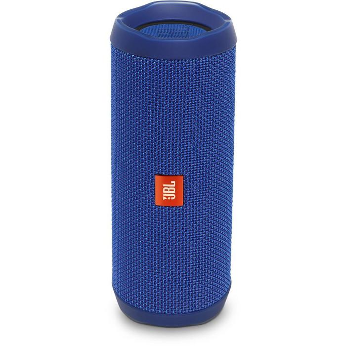 Портативная акустическая система JBL Flip 4 синяяКолонки и акустика<br>Портативная и водонепроницаемая беспроводная акустическая система JBL Flip 4 с удивительно мощным звучанием и множеством полезных функций.<br><br>Цвет товара: Синий<br>Материал: Пластик, текстиль