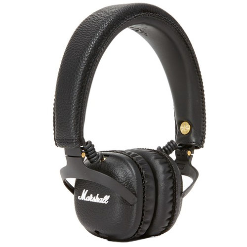 Беспроводные наушники Marshall Mid Bluetooth чёрныеНакладные наушники<br>Marshall Mid Bluetooth соединяют в себе свободу и комфорт!<br><br>Цвет товара: Чёрный<br>Материал: Металл, эко-кожа, винил