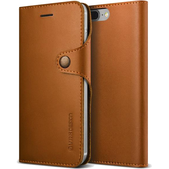 Чехол Verus Native Diary для iPhone 7 Plus (Айфон 7 Плюс) светло-коричневый (VRSIP7P-NTDBR)