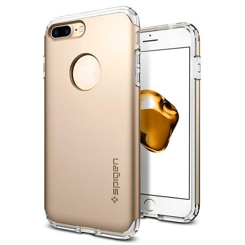 Чехол Spigen Hybrid Armor для iPhone 7 Plus (Айфон 7 Плюс) золотой (SGP-043CS20699)Чехлы для iPhone 7 Plus<br>Spigen Hybrid Armor превосходно справится с ежедневными трудностями!<br><br>Цвет товара: Золотой<br>Материал: Поликарбонат, полиуретан