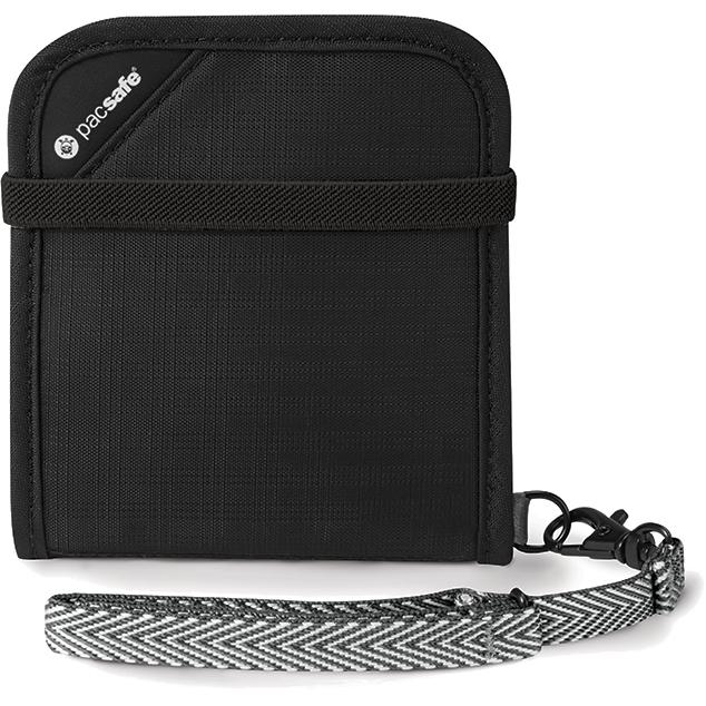 Кошелёк PacSafe RFIDsafe V100 чёрныйКошельки и портмоне<br>PacSafe RFIDsafe V100 - лучшая защита для всех ваших ценностей!<br><br>Цвет: Чёрный<br>Материал: Текстиль, ткань RFIDsafe
