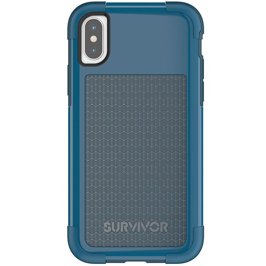 Чехол Griffin Survivor Fit для iPhone X синий/голубойЧехлы для iPhone X<br>Survivor Fit — это многослойный чехол нового поколения!<br><br>Цвет товара: Синий<br>Материал: Поликарбонат, полиуретан<br>Модификация: iPhone 5.8
