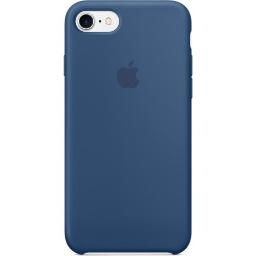 Силиконовый чехол Apple Case для iPhone 7 (Айфон 7) глубокий синийЧехлы для iPhone 7<br>Силиконовый чехол  Apple Case для iPhone 7 - Ocean Blue - Глубокий Синий<br><br>Цвет товара: Синий<br>Материал: Силикон