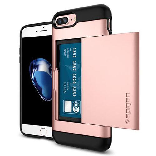 Чехол Spigen Slim Armor CS для iPhone 7 Plus розовое золото (043CS20527)Чехлы для iPhone 7 Plus<br><br><br>Цвет товара: Розовое золото<br>Материал: Поликарбонат, термопластичный полиуретан