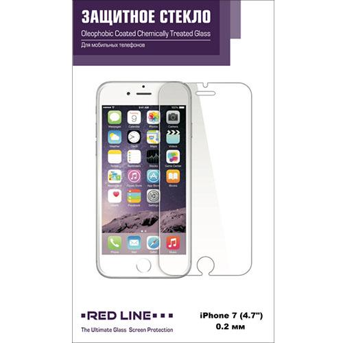 Защитное стекло Red Line для iPhone 7 Tempered Glass 0.2 мм глянцевоеСтекла/Пленки на смартфоны<br>Защитное стекло Red Line на iPhone 7 tempered glass<br><br>Цвет товара: Прозрачный<br>Материал: Стекло