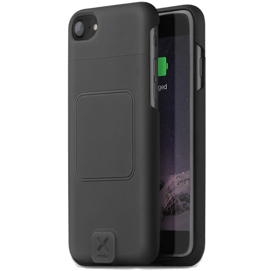 Чехол XVIDA Wireless Charging для iPhone 7 чёрныйЧехлы для iPhone 7<br>XVIDA Wireless Charging – магнитный чехол, оснащённый приёмником Qi для беспроводной зарядки.<br><br>Цвет товара: Чёрный<br>Материал: Пластик, металл