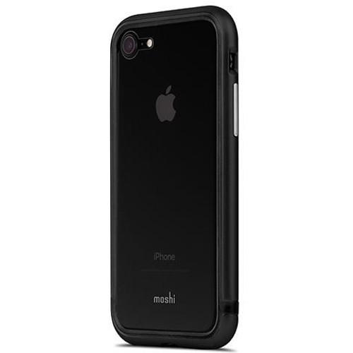 Чехол Moshi Luxe для iPhone 7 серыйЧехлы для iPhone 7<br>Этот долговечный  чехол отлично защищает телефон во время падений и соответствует оборонным стандартам защиты США (MIL-STD-810G).<br><br>Цвет товара: Серый<br>Материал: Алюминий, силикон, акрил