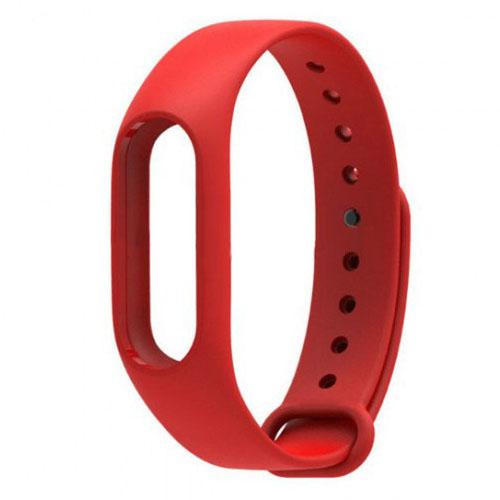 Ремешок для браслета Xiaomi Mi Band 2 красныйРемешки и кабели<br>Радужные ремешки позволят подобрать цвет браслета под настроение!<br><br>Цвет товара: Красный<br>Материал: Силикон