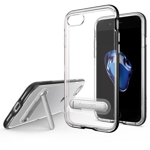 Чехол Spigen Crystal Hybrid для iPhone 7 (Айфон 7) чёрный (SGP-042CS20671)Чехлы для iPhone 7<br><br><br>Цвет товара: Чёрный<br>Материал: Поликарбонат, полиуретан
