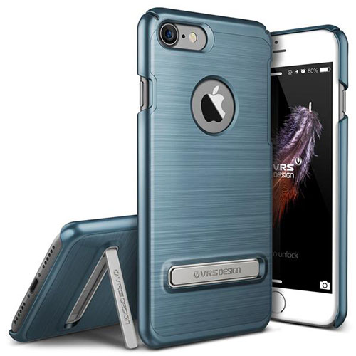 Чехол Verus Simpli Lite для iPhone 7 (Айфон 7) синий (VRIP7-SPLBB)Чехлы для iPhone 7<br>Чехол Verus для iPhone 7 Simpli Lite, стальной голубой (904625)<br><br>Цвет товара: Синий<br>Материал: Поликарбонат, полиуретан