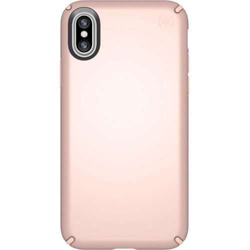 Чехол Speck Presidio Metallic для iPhone X розовое золотоЧехлы для iPhone X<br>Привлекательный чехол Speck Presidio Metallic является превосходной защитой для вашего iPhone X.<br><br>Цвет товара: Розовое золото<br>Материал: Поликарбонат