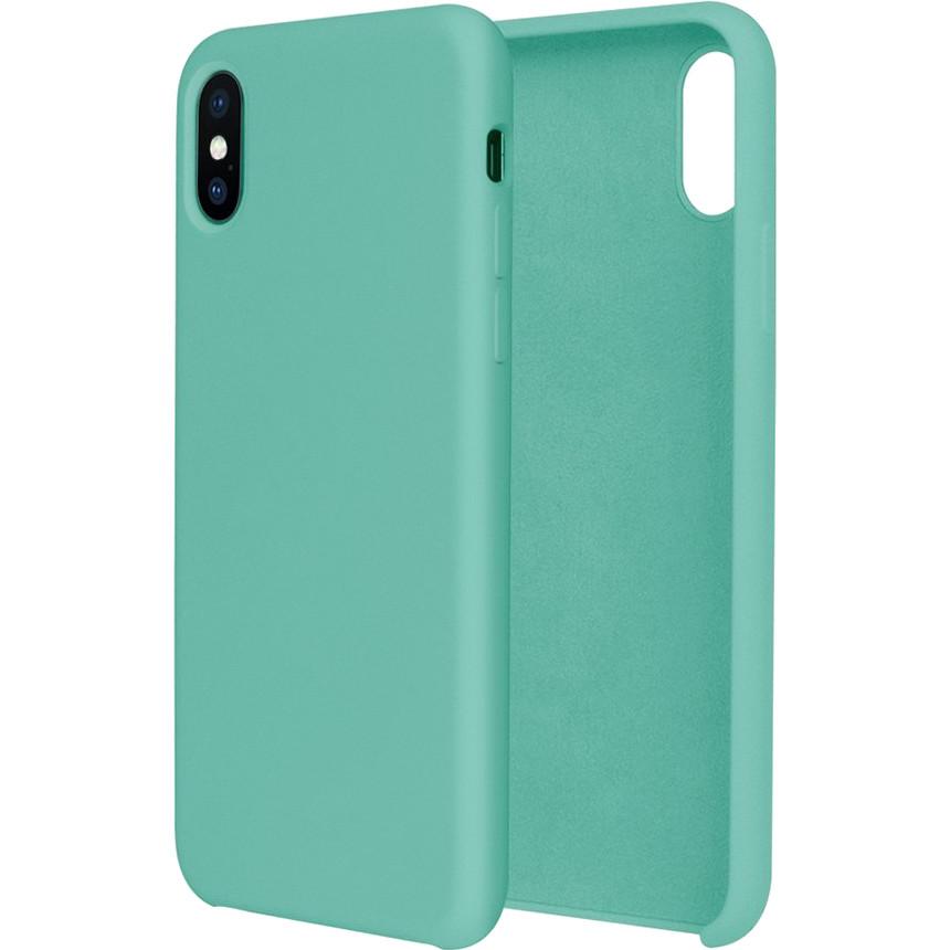 Силиконовый чехол G-CASE Original Flexible Silicone Gel Case для iPhone X мятныйЧехлы для iPhone X<br>Чехол из гелеобразного силикона с мягкой подкладой из микрофибры. Он гибкий и лёгкий, идеально облегающий корпус мощного смартфона iPhone X.<br><br>Цвет товара: Мятный<br>Материал: Гелеобразный гиппоаллергенный силикон, микрофибра