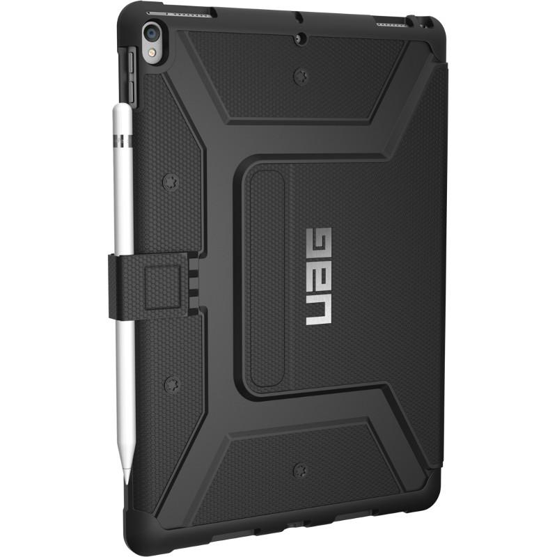 Чехол UAG Metropolis Case для iPad Pro 10.5 чёрныйЧехлы для iPad Pro 10.5<br>Прочная композитная конструкция, защита от загрязнений и влаги на 360°, комфортная подставка и держатель для стилуса — всё это чехол UAG Metropoli...<br><br>Цвет товара: Чёрный<br>Материал: Композитный пластик, термопластичный полиуретан
