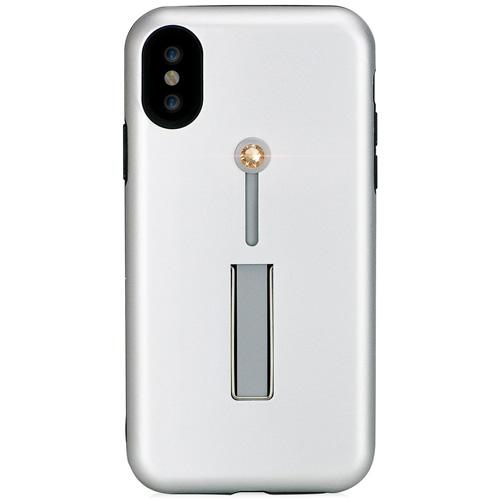 Чехол Bling My Things SelfieLOOP Collection для iPhone X Silver/GoldЧехлы для iPhone X<br>Экстравагантный чехол с кристаллами Swarovski и удобной подставкой станет для вас безупречным аксессуаром, с которым вы сделаете мир еще ярче!<br><br>Цвет: Серебристый<br>Материал: Кристаллы Swarovski, термопластичный полиуретан, поликарбонат