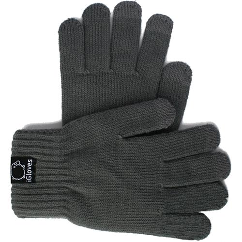 Перчатки из полушерсти iGloves (w2) для iPhone/iPod/iPad/etc серые (Размер M) от iCases