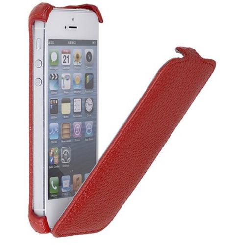 Чехол SmartBuy Le Grain для iPhone SE/5/5S красныйЧехлы для iPhone 5s/SE<br>С чехлом SmartBuy Le Grain Вашему смартфону будут не страшны повреждения, царапины, пыль и потертости.<br><br>Цвет товара: Красный<br>Материал: Кожа, пластик