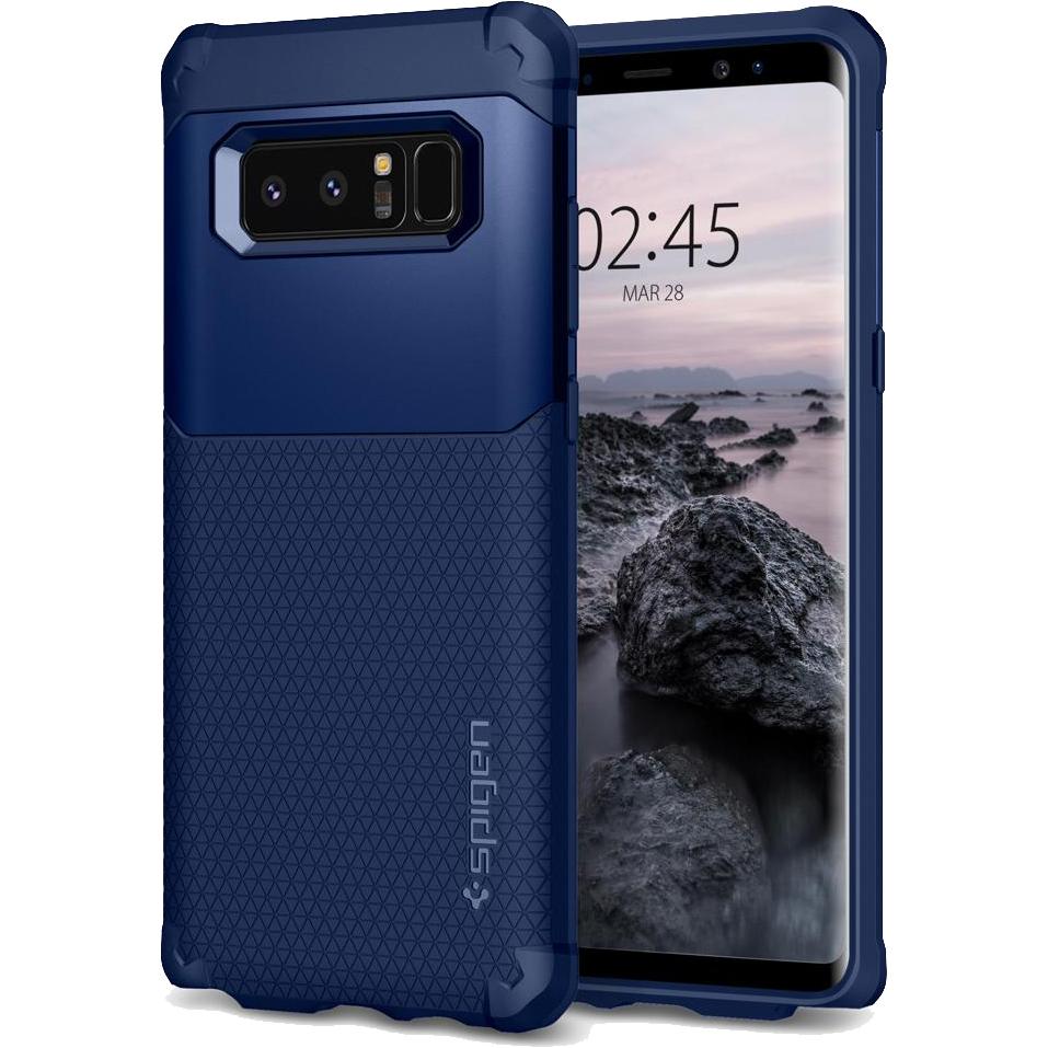 Чехол Spigen Case Hybrid Armor для Samsung Galaxy Note 8 тёмно-синий (587CS22078)Чехлы для Samsung Galaxy Note<br>Испытайте непревзойденную защиту чехла Hybrid Armor от Spigen для Samsung Galaxy Note 8.<br><br>Цвет товара: Синий<br>Материал: Поликарбонат, термопластичный полиуретан