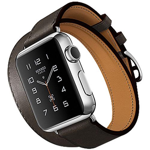 Набор ремешков 3 в 1 Rock Geniune Leather Watch Strap Set для Apple Watch 38 мм чёрныхРемешки для Apple Watch<br>Ремешки 3 в 1 Rock Geniune Leather Watch Strap Set для Apple Watch 38mm - черные<br><br>Цвет товара: Чёрный<br>Материал: Натуральная кожа, нержавеющая сталь