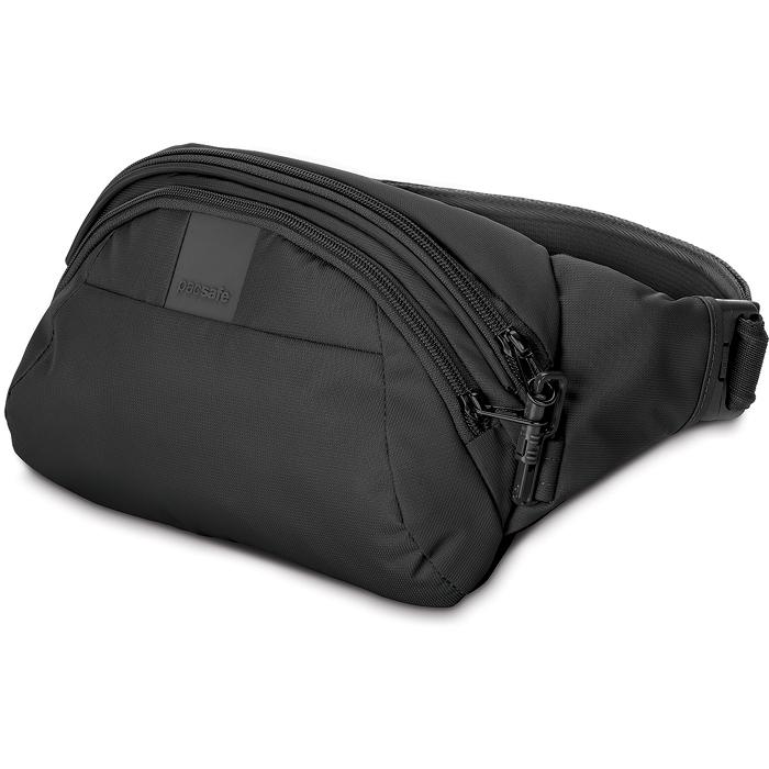 Сумка PacSafe Metrosafe LS120 Anti-theft Hip Pack чёрнаяСумки и аксессуары для путешествий<br>Сумка Pacsafe Metrosafe LS120 отлично подходит для городских прогулок и легко вмещает в себя самое необходимое.<br><br>Цвет товара: Чёрный<br>Материал: Текстиль, нержавеющая сталь, пластик