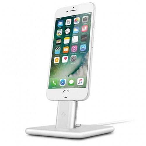 Док-станция TwelveSouth HiRise 2 Deluxe для iPhone и iPad серебристаяДокстанции/подставки<br>Док-станция TwelveSouth HiRise 2 Deluxe представляет из себя красивую металлическую подставку для зарядки iPhone или iPad.<br><br>Цвет товара: Серебристый<br>Материал: Сталь