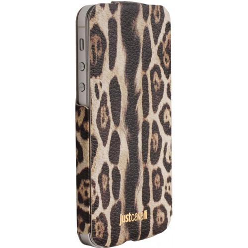 Чехол Puro Just Cavalli Leopard для iPhone 5/5S/SEЧехлы для iPhone 5/5S/SE<br>Роберто Кавалли — знаменитый талантливый дизайнер в мире моды, создающий стильные аксессуары для техники Apple.<br><br>Цвет товара: Коричневый<br>Материал: Кожа, полиуретан