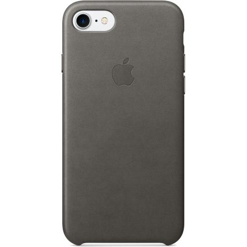 Кожаный чехол Apple Case для iPhone 7 (Айфон 7) грозовое небо