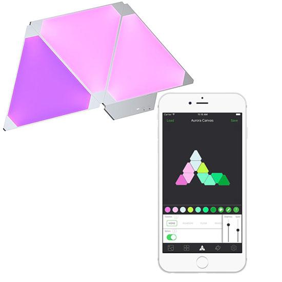 Умная система освещения Nanoleaf Aurora Expansion Pack (3 панели)Умные лампы<br>Благодаря этой системе вы сможете украсить любое помещение!<br><br>Цвет товара: Белый<br>Материал: Акрил, пластик<br>Модификация: 3 панели