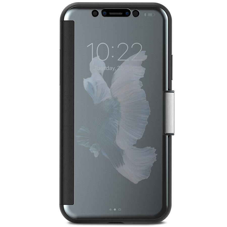 Чехол Moshi StealthCover для iPhone X серыйЧехлы для iPhone X<br>Moshi StealthCover — идеальное сочетание защиты, функциональности и стиля!<br><br>Цвет: Серый<br>Материал: Поликарбонат