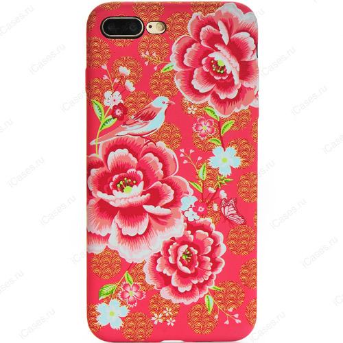 Силиконовый чехол Luxo для iPhone 7 Plus Цветы (стиль 5)Чехлы для iPhone 7 Plus<br>Серия надежный чехлов Luxo «Цветы» — это яркая палитра красок и оригинальные цветочные принты,  которые вдохновят вас и окружающих!<br><br>Цвет товара: Красный<br>Материал: Силикон