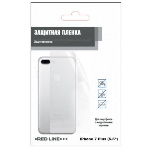 Защитная плёнка Red Line на заднюю панель iPhone 7 Plus (5,5) глянцеваяСтекла/Пленки на смартфоны<br>Защитная плёнка Red Line представляет собой прозрачную полиуретановую оболочку, которая является невидимой и предлагает феноменальную защит...<br><br>Цвет товара: Прозрачный<br>Материал: Пластик