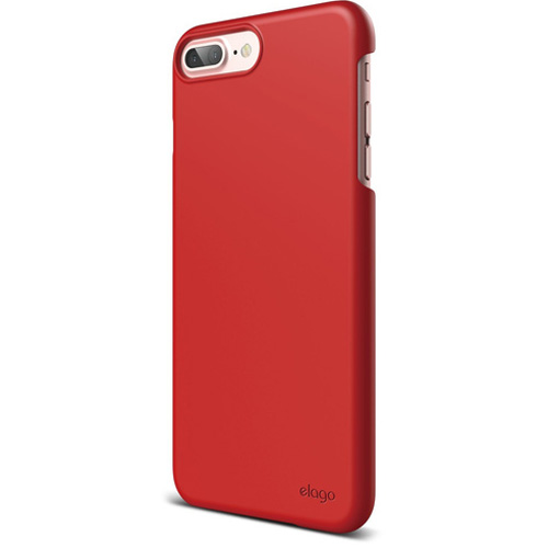 Чехол Elago S7+ Slim Fit 2 для iPhone 7 Plus/8 Plus красныйЧехлы для iPhone 7 Plus<br>Почти невесомый Elago S7+ Slim Fit 2 очень тонкий, но с задачей защиты вашего iPhone справляется на отлично!<br><br>Цвет: Красный<br>Материал: Поликарбонат