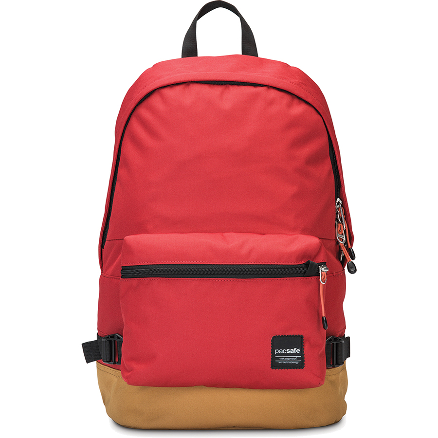 Рюкзак Pacsafe Slingsafe LX400 красный ChiliРюкзаки<br>Рюкзак Pacsafe Slingsafe LX400 обеспечит максимальную защиту для ваших вещей!<br><br>Цвет товара: Красный<br>Материал: Текстиль, нержавеющая сталь, пластик