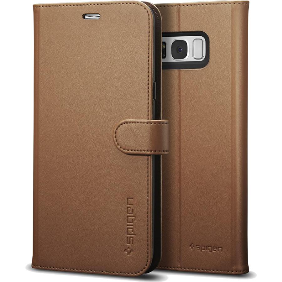Чехол Spigen Wallet S для Samsung Galaxy S8 Plus коричневый (571CS21688)Чехлы для Samsung Galaxy S8/S8 Plus<br>Spigen Wallet S можно использовать одновременно и как чехол для телефона и как бумажник.<br><br>Цвет: Коричневый<br>Материал: Эко-кожа, термопластичный полиуретан