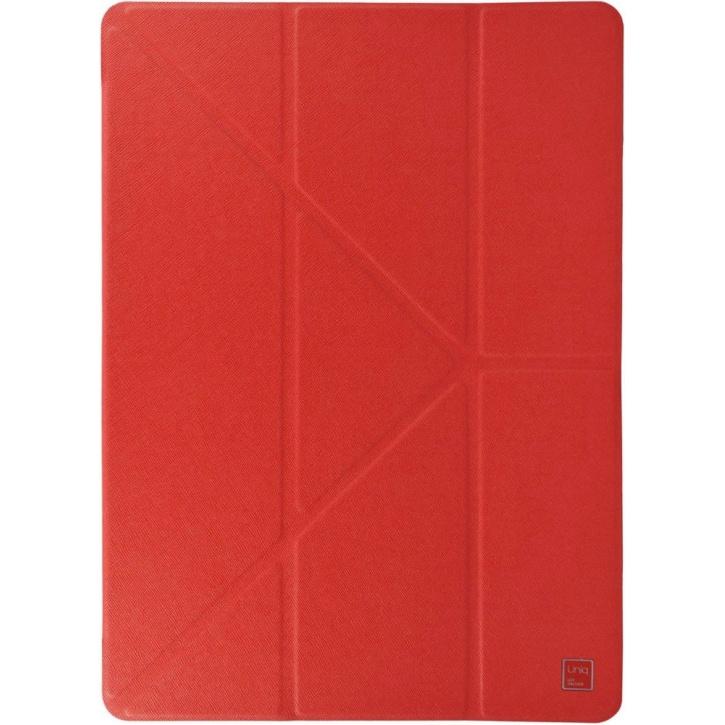 Чехол Uniq Yorker для iPad Pro 9.7 красныйЧехлы для iPad Pro 9.7<br>Компания Uniq широко известна благодаря выпуску стильных и качественных аксессуаров, в частности, защитных чехлов.<br><br>Цвет товара: Красный<br>Материал: Пластик, текстиль