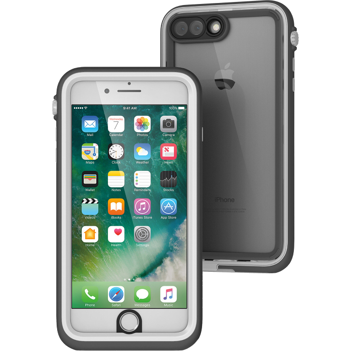 Чехол Catalyst Waterproof Case для iPhone 7 Plus (Айфон 7 Плюс) серый/белый