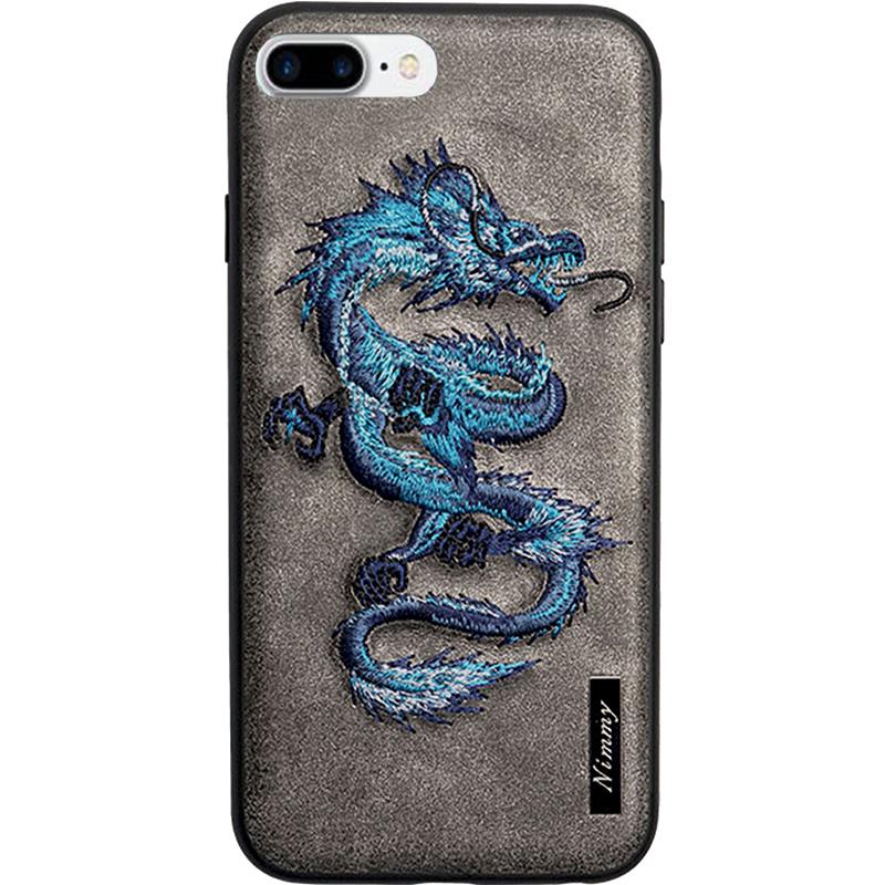 Чехол Nimmy Fantasy Denim для iPhone 7 Plus / 8 Plus (Дракон) серыйЧехлы для iPhone 7 Plus<br>Чехлы Nimmy Fantasy Denim (стиль 14) — это тандем стиля и качества.<br><br>Цвет товара: Серый<br>Материал: Пластик, силикон, текстиль