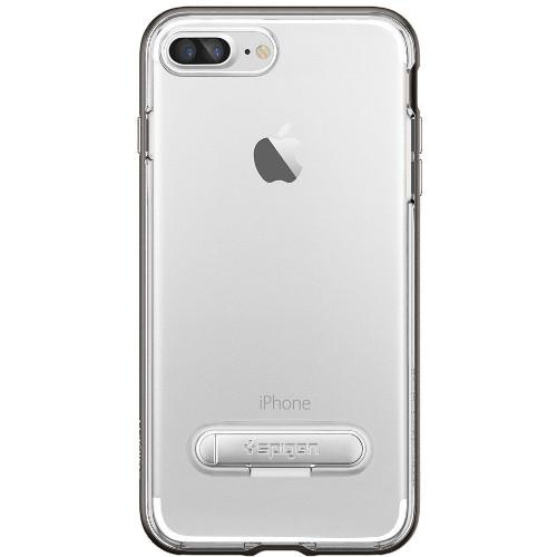 Чехол Spigen Crystal Hybrid для iPhone 7 и 8 Plus (Айфон 8 Плюс) стальной (SGP-043CS20508)Чехлы для iPhone 7 Plus<br>Spigen Crystal Hybrid — идеальный чехол для минималистов, которые ценят максимальную функциональность!<br><br>Цвет товара: Серый<br>Материал: Поликарбонат, термопластичный полиуретан (ТПУ)
