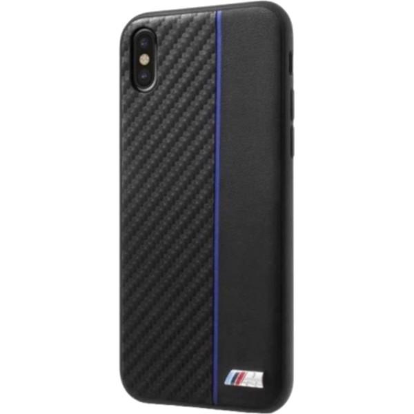 Чехол BMW M-Collection Carbon inspiration Hard для iPhone X чёрный/синийЧехлы для iPhone X<br>BMW M-Collection Carbon Inspiration словно превращает ваш iPhone X в гоночный автомобиль.<br><br>Цвет товара: Синий<br>Материал: Поликарбонат, эко-кожа (PU)