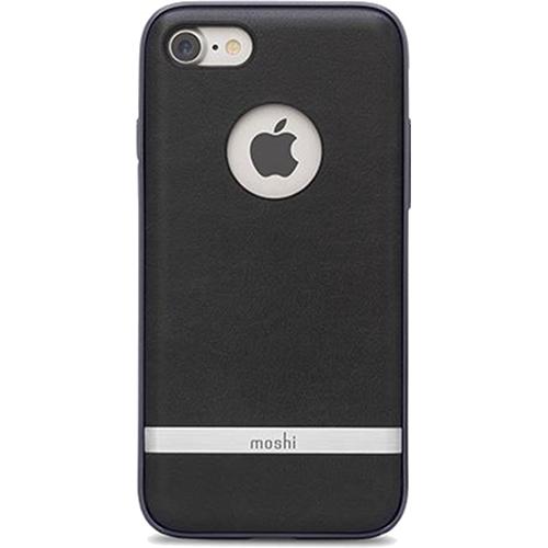 Чехол Moshi Napa для iPhone 7 (Айфон 7) чёрныйЧехлы для iPhone 7<br>Чехол Moshi Napa для iPhone 7 (Айфон 7) черный<br><br>Цвет товара: Чёрный<br>Материал: Поликарбонат, полиуретановая кожа