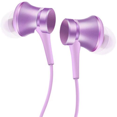 Наушники Xiaomi Refreshed Piston Earphones (Pure version) фиолетовыеВнутриканальные наушники<br><br><br>Цвет товара: Фиолетовый<br>Материал: Пластик, силикон