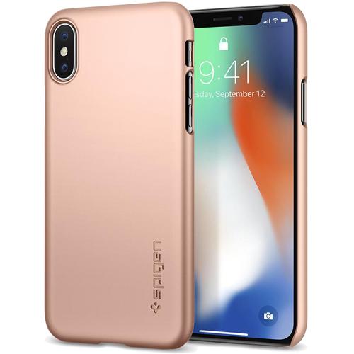Чехол Spigen Thin Fit для iPhone X розовое золото (057CS22110)Чехлы для iPhone X<br>Spigen Thin Fit — это чехол с лёгким и свежим дизайном, который создан специально для iPhone X!<br><br>Цвет товара: Розовое золото<br>Материал: Поликарбонат