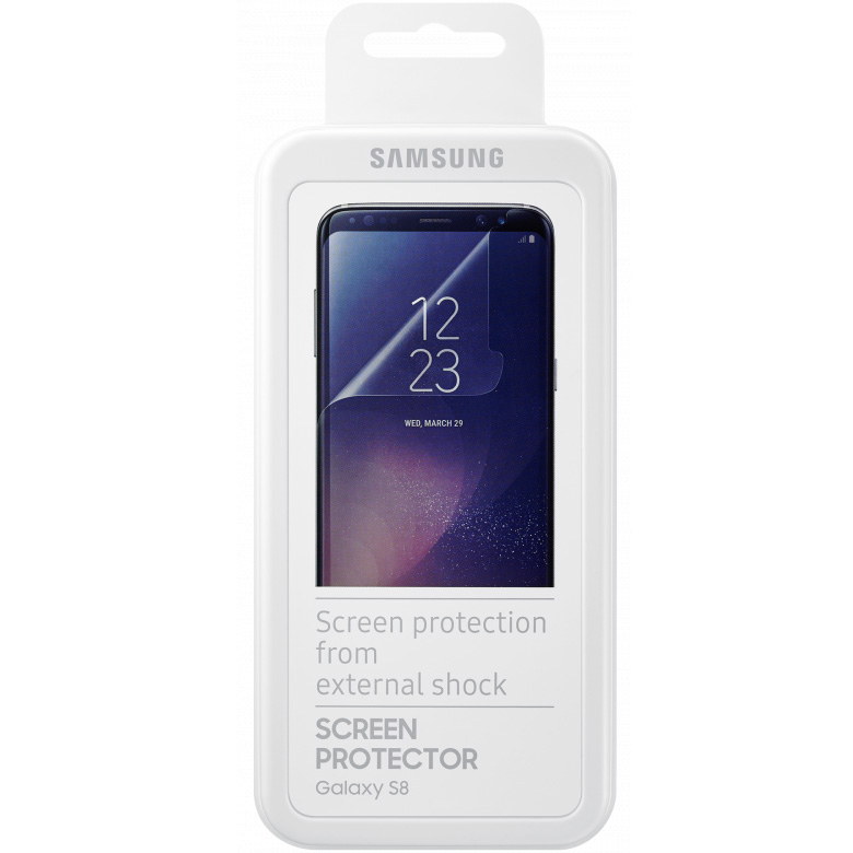 Защитная плёнка Samsung для Samsung Galaxy S8Стекла/Пленки на смартфоны<br>Плёнка Samsung отлично подходит для повседневного использования!<br><br>Цвет товара: Прозрачный<br>Материал: Пластик