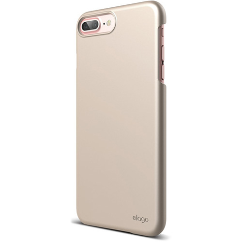 Чехол Elago S7+ Slim Fit 2 для iPhone 7 Plus/8 Plus золотойЧехлы для iPhone 7 Plus<br>Почти невесомый Elago S7+ Slim Fit 2 очень тонкий, но с задачей защиты вашего iPhone справляется на отлично!<br><br>Цвет: Золотой<br>Материал: Поликарбонат
