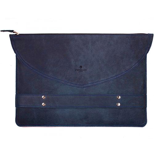 Кожаный чехол Stoneguard для MacBook 13 синий Ocean (521)Чехлы для MacBook Pro 13 Retina<br>Он выглядит элегантно, лаконично и в тоже время презентабельно.<br><br>Цвет товара: Синий<br>Материал: Натуральная кожа, фетр